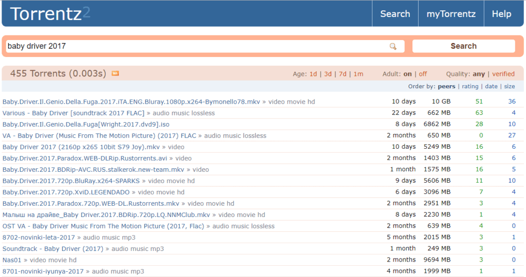 bittorrent search sites