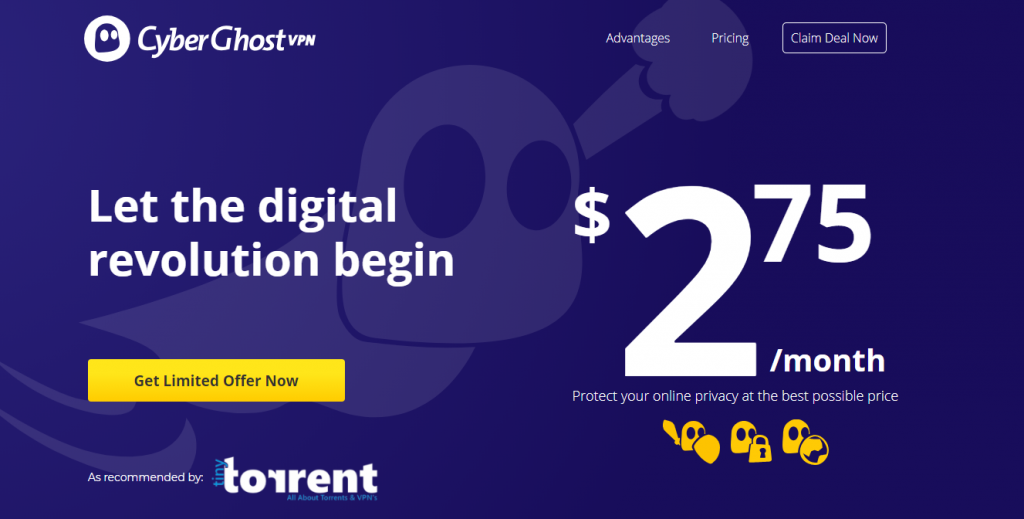 CyberGhost Promo Exclusive offer TinyTorrent.net